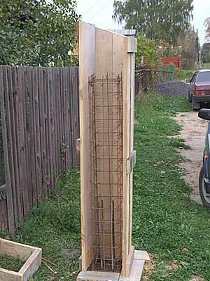 Опалубка для бетонного столба