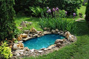 Маленький садовый пруд из пластка
