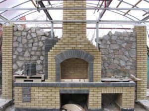 Печь барбекю шашлычница на даче усадьбе своими руками камины дровяные спб
