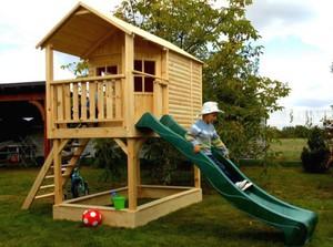 Двухуровневый детский домик