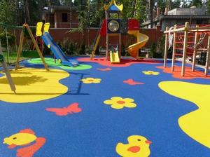 Пол для детской площадки