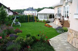 Вид двора частного дома