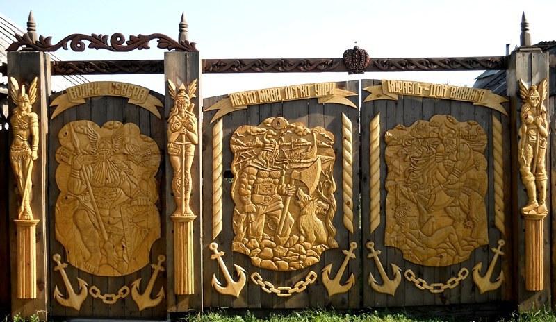Ворота из профнастила своими руками фото 601