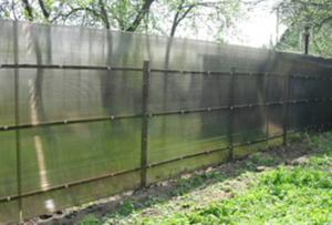 Забор на винтовых сваях - цены на заборы 7