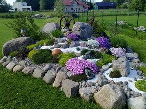 Альпийская горка фото цветов