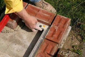Этап строительства мангала