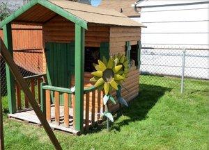 Садовый домик для детей своими руками