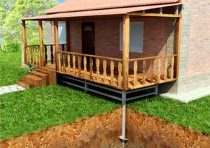 К частному дому веранду можно пристроить позже.