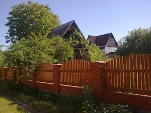 Деревянные заборы на даче
