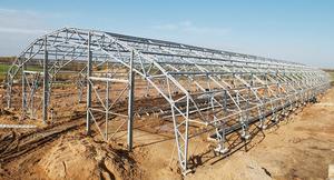 Арочные металлические фермы из профильной трубы для навеса