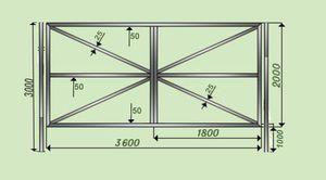 Схема изготовления ворот