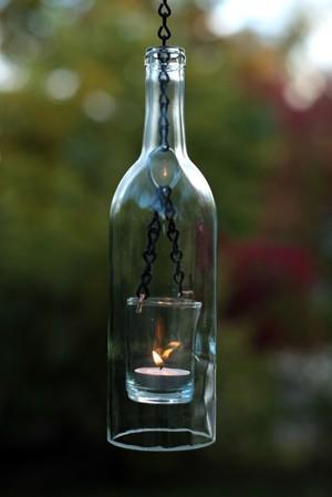 Самодельный фонарь из бутылки