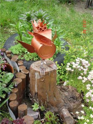 Дачные поделки своими руками для украшения сада фото 630