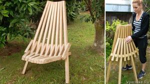 Удобное садовое складное кресло - делаем мебель сами
