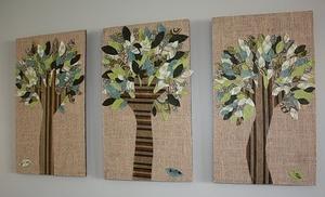Картины из ткани - это настоящее искусство рукодельницы