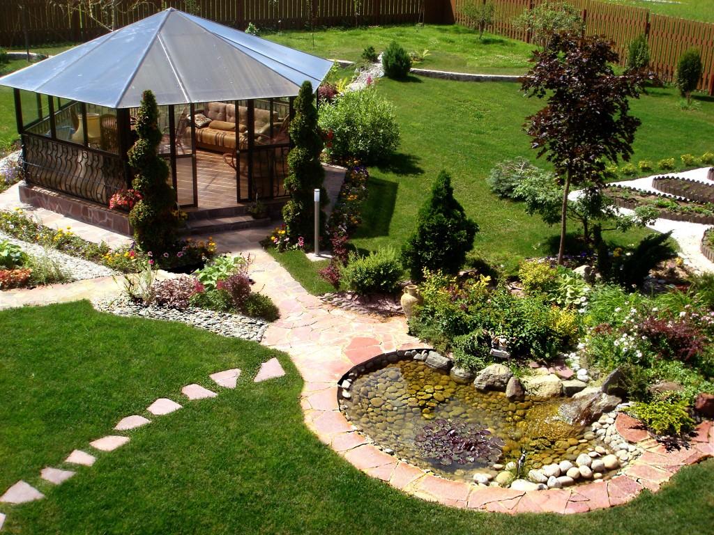 Дизайн садового участка своими руками в деревне, фото
