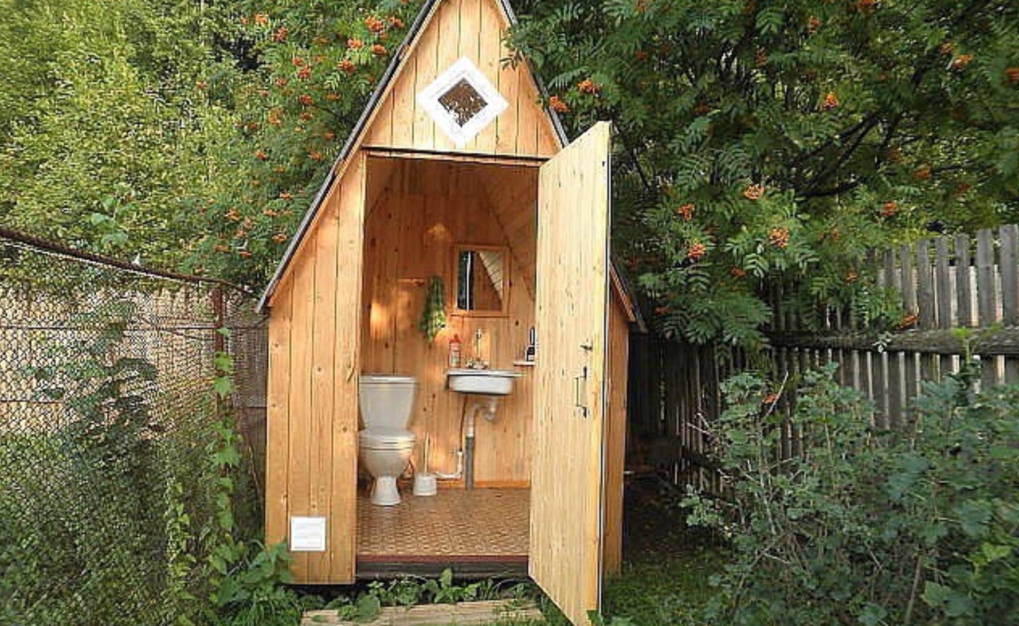 Туалетный домик для дачи