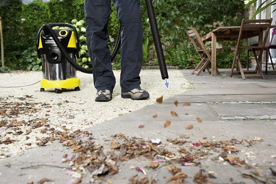 Электрический садовый пылесос воздуходувка