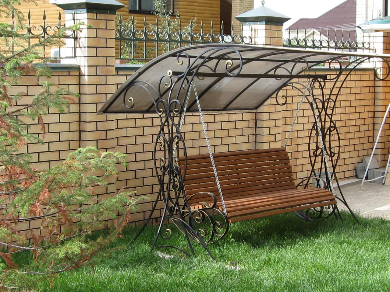 Садовые качели из металла своими руками: фото, размеры, чертежи