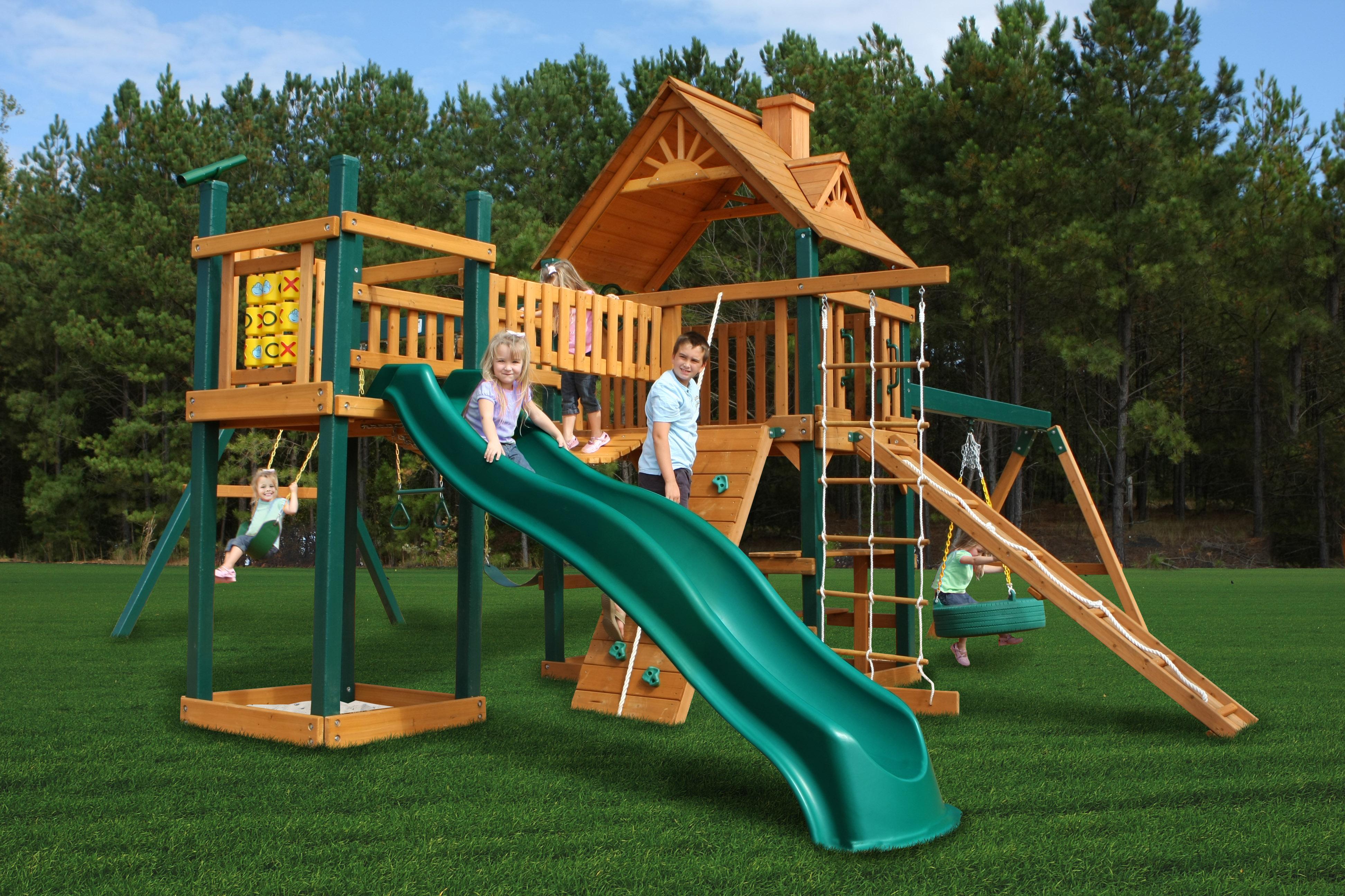 Игровые комплексы для детей на дачу