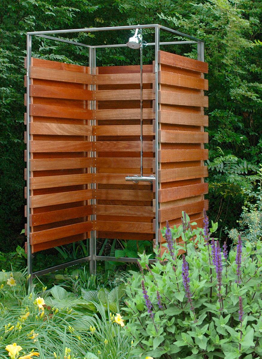 Строим летний душ с подогревом на даче своими руками