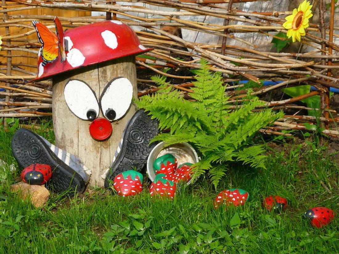 Фото поделок своими руками для своего сада и огорода