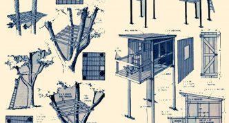 Чертежи крепления платформы к дереву и свай