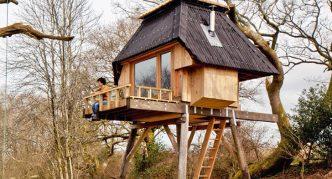 Дом в отсутствии деревьев