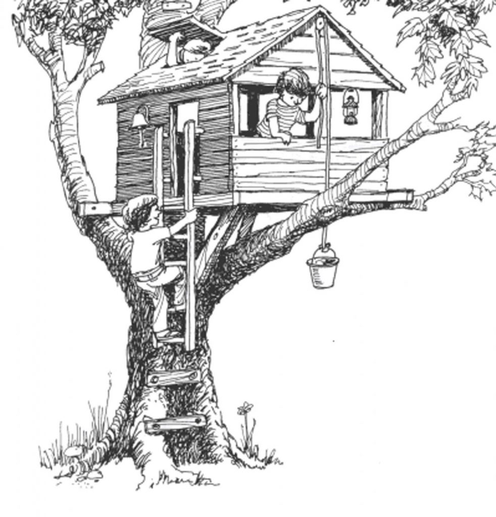 Домик на трех толстых ветках