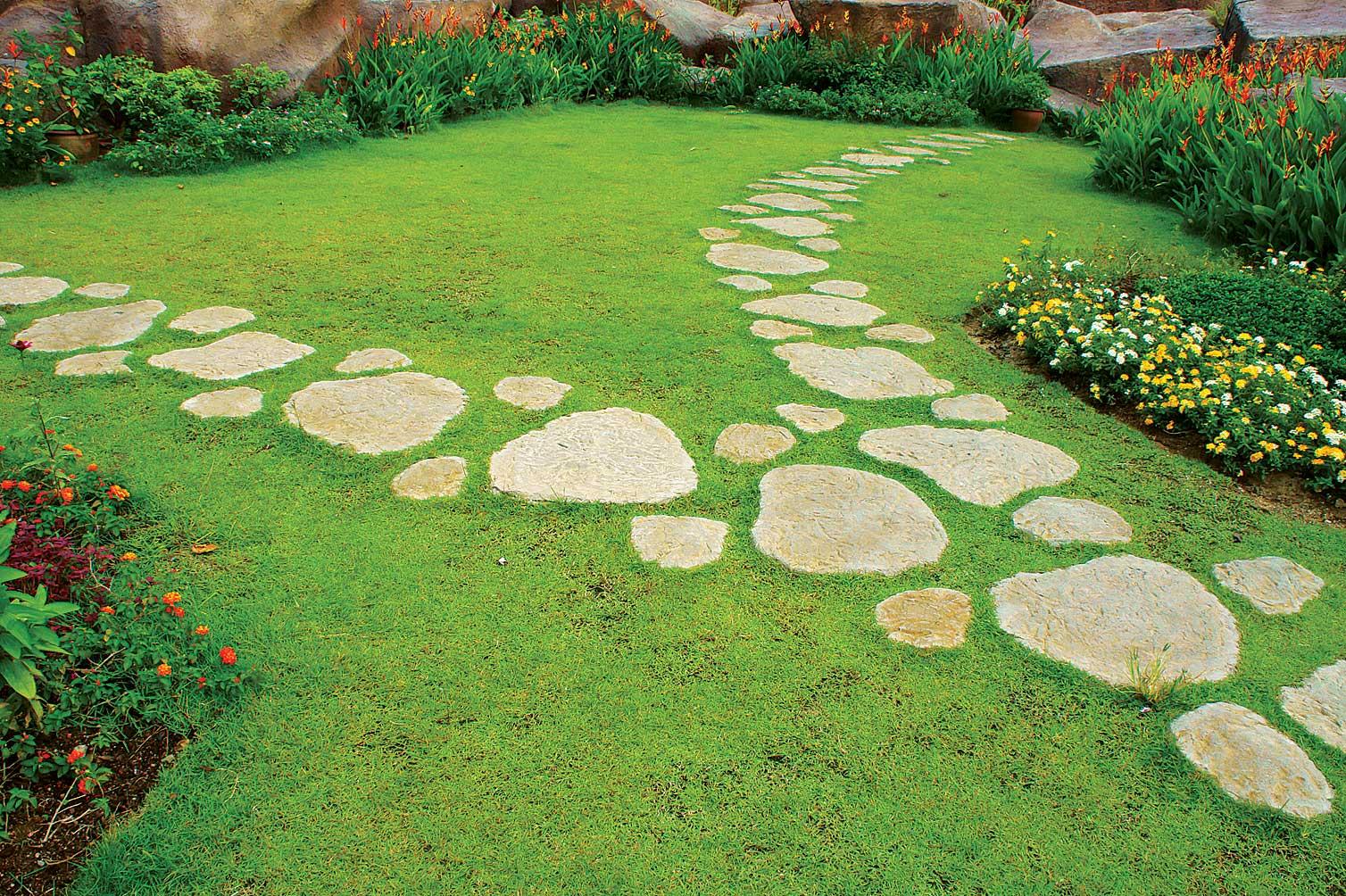 Садовые дорожки своими руками: чертежи, варианты дизайна