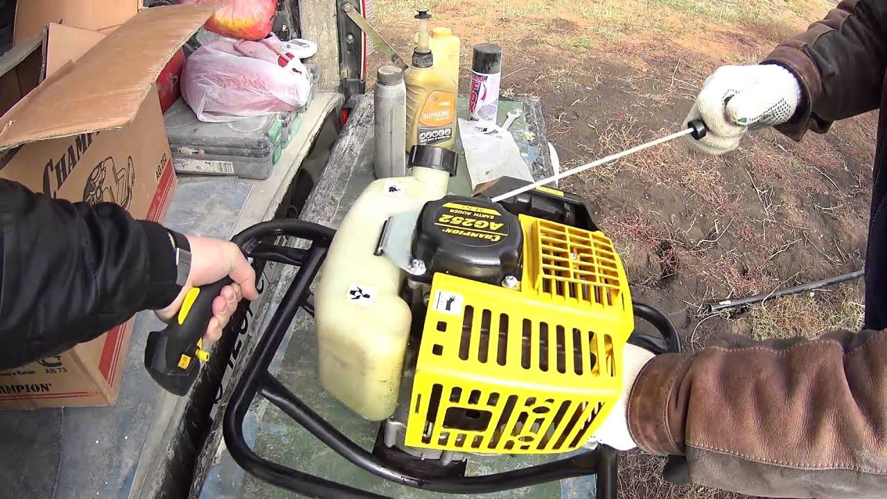 Бензобур для земляных работ: цена и характеристики