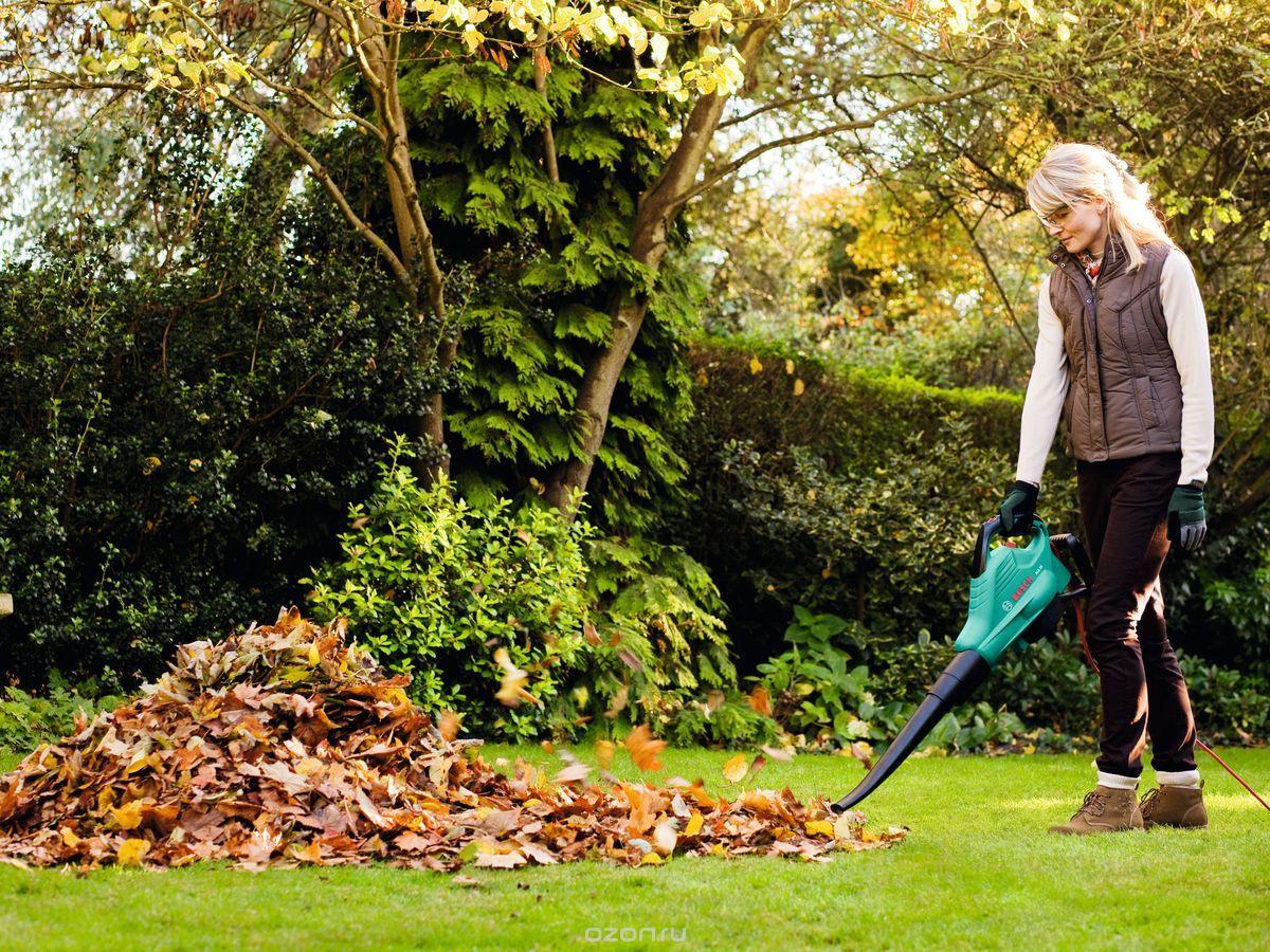 Как выбрать электрический садовый пылесос воздуходувку