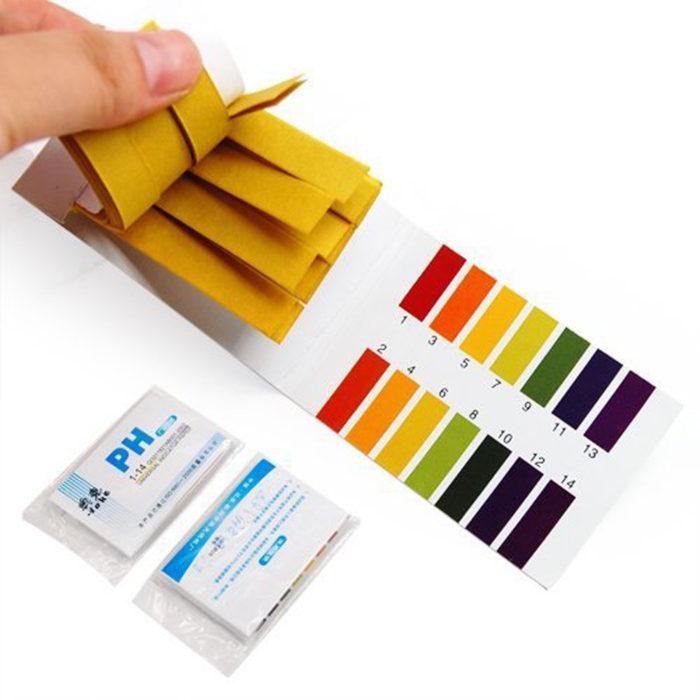 Лакмусовая бумага со шкалой кислотности