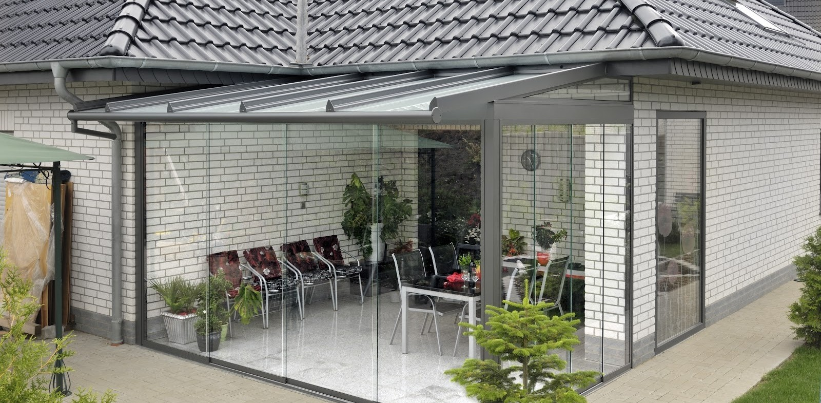 Пристроенные к дому веранды из поликарбоната: фото и виды террас