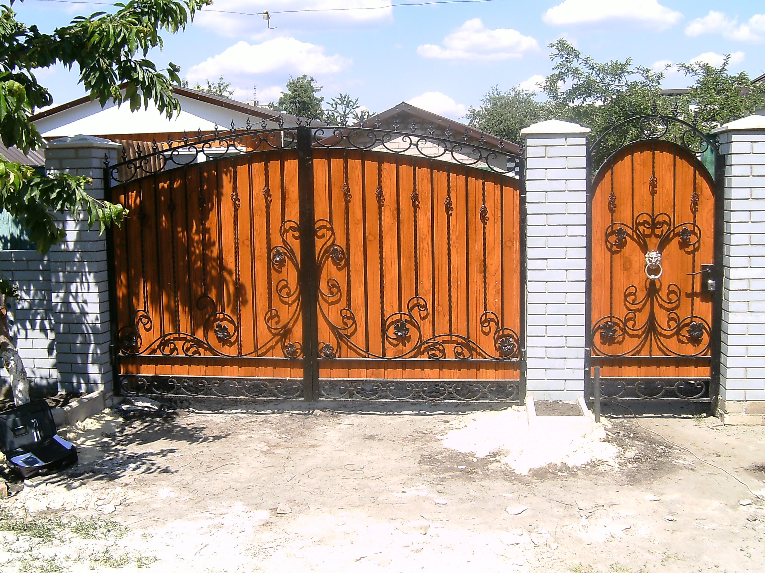 Описание калиток и ворот: их классификация и фото
